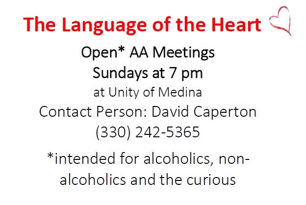 The Language of the Heart - Open AA Meetings | Unity of Medina